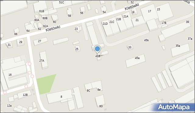 Krosno, Pużaka Kazimierza, 41B, mapa Krosna