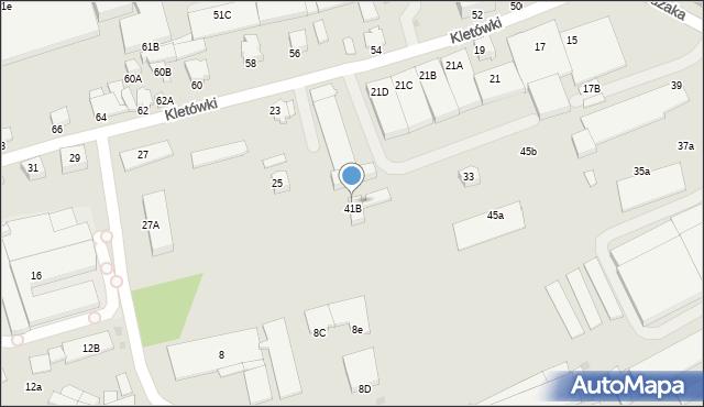 Krosno, Pużaka Kazimierza, 47, mapa Krosna