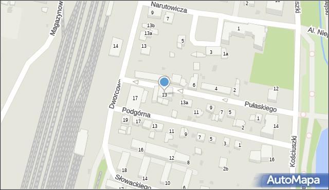 Mogilno, Pułaskiego Kazimierza, gen., 13, mapa Mogilno
