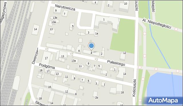 Mogilno, Pułaskiego Kazimierza, gen., 4, mapa Mogilno