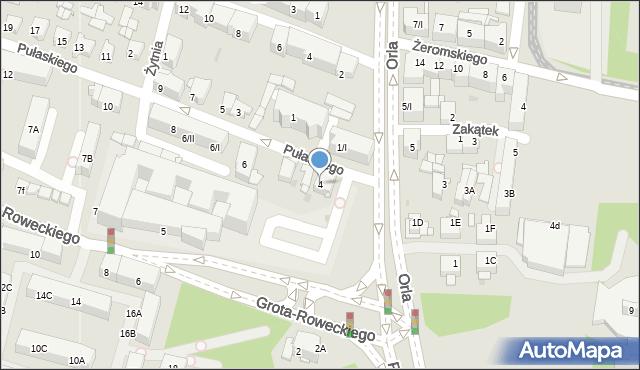 Sosnowiec, Pułaskiego Kazimierza, gen., 4, mapa Sosnowca