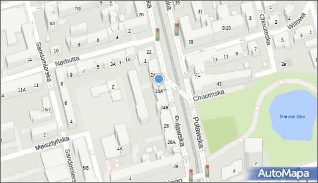 Warszawa, Puławska, 24A, mapa Warszawy