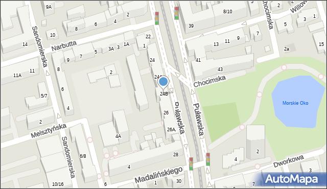 Warszawa, Puławska, 24B, mapa Warszawy