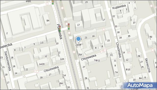 Warszawa, Puławska, 23/25, mapa Warszawy