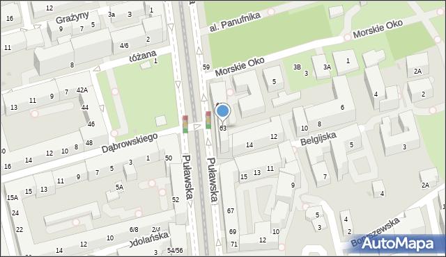 Warszawa, Puławska, 63, mapa Warszawy