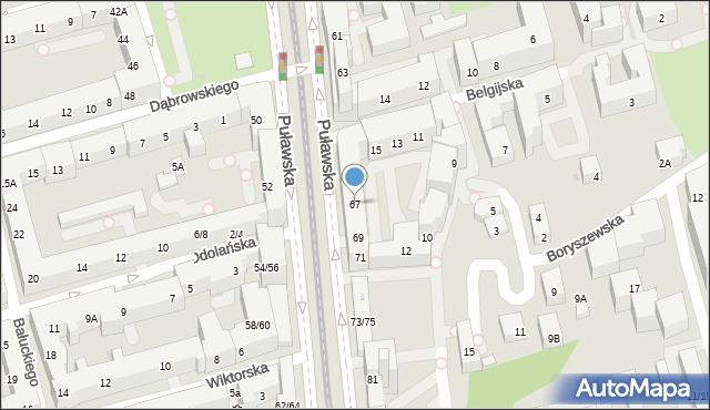 Warszawa, Puławska, 67, mapa Warszawy