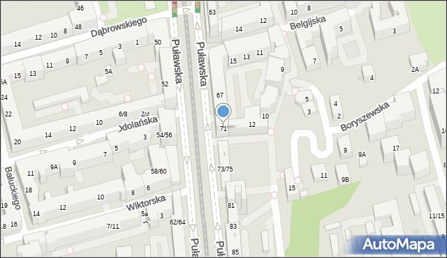 Warszawa, Puławska, 71, mapa Warszawy
