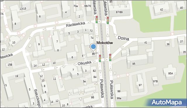 Warszawa, Puławska, 80, mapa Warszawy