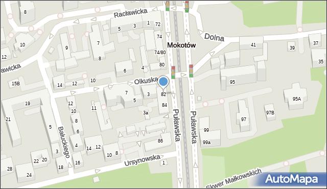 Warszawa, Puławska, 82, mapa Warszawy