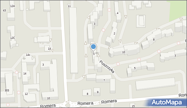 Warszawa, Puszczyka, 1, mapa Warszawy