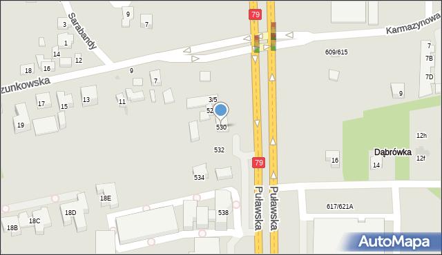 Warszawa, Puławska, 530, mapa Warszawy