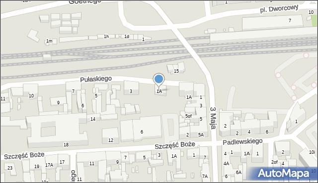 Zabrze, Pułaskiego Kazimierza, gen., 1A, mapa Zabrza