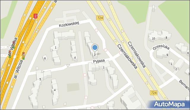 Warszawa, Pyjasa Stanisława, 2, mapa Warszawy
