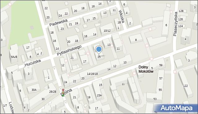 Warszawa, Pytlasińskiego Władysława, 15, mapa Warszawy