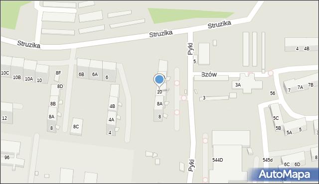 Zabrze, Pyki Jana, 10, mapa Zabrza