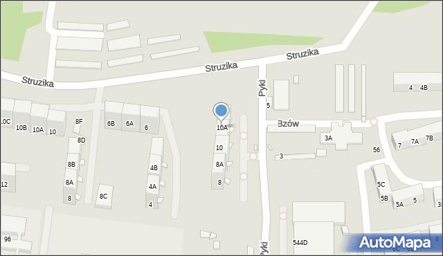 Zabrze, Pyki Jana, 10A, mapa Zabrza