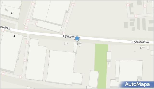 Zabrze, Pyskowicka, 12, mapa Zabrza