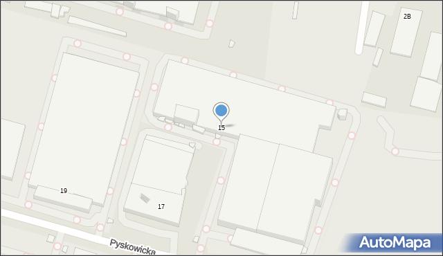 Zabrze, Pyskowicka, 15, mapa Zabrza