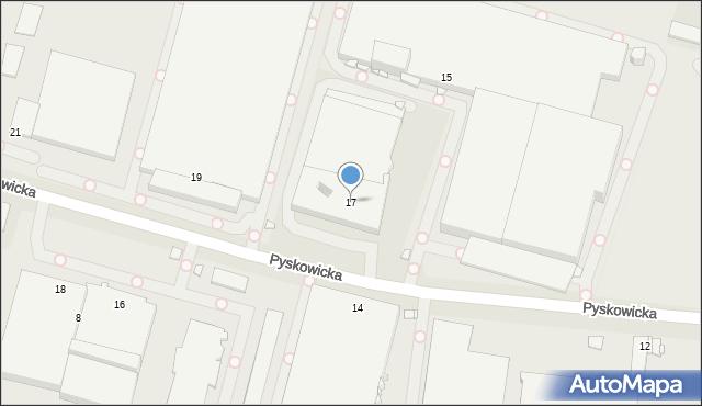 Zabrze, Pyskowicka, 17, mapa Zabrza