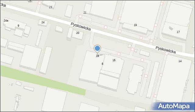 Zabrze, Pyskowicka, 18, mapa Zabrza