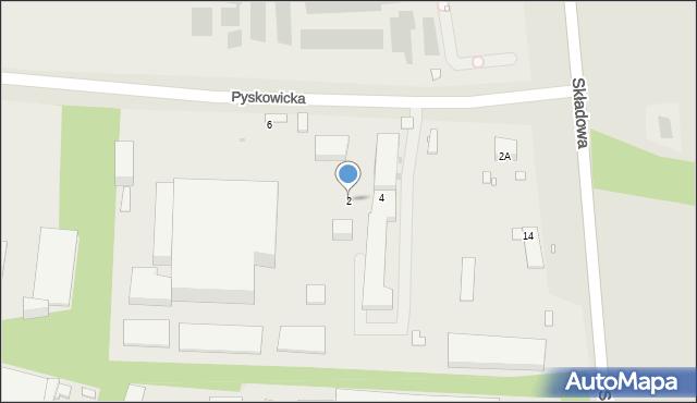 Zabrze, Pyskowicka, 2, mapa Zabrza