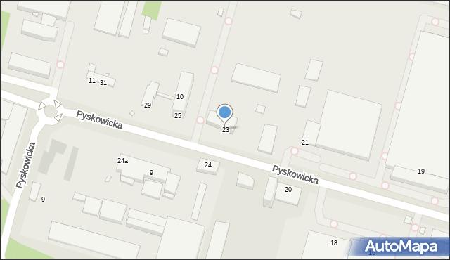 Zabrze, Pyskowicka, 23, mapa Zabrza