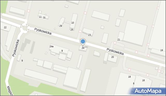 Zabrze, Pyskowicka, 24, mapa Zabrza