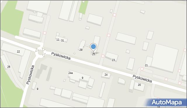 Zabrze, Pyskowicka, 25, mapa Zabrza