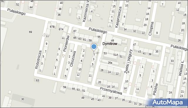 Bytom, Rajska, 1, mapa Bytomia