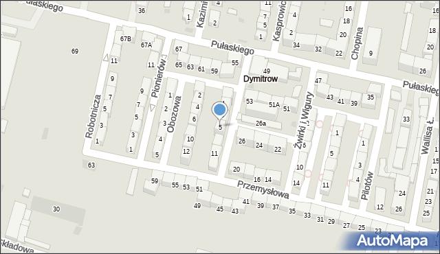 Bytom, Rajska, 5, mapa Bytomia