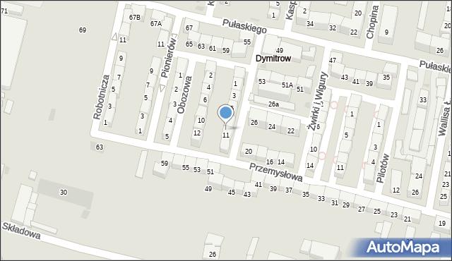 Bytom, Rajska, 9, mapa Bytomia
