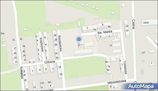 Bytom, Racławicka, 17, mapa Bytomia