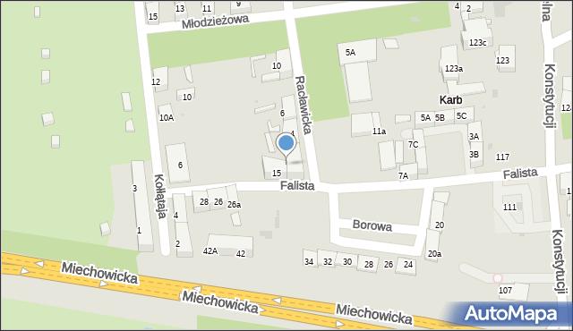 Bytom, Racławicka, 2, mapa Bytomia