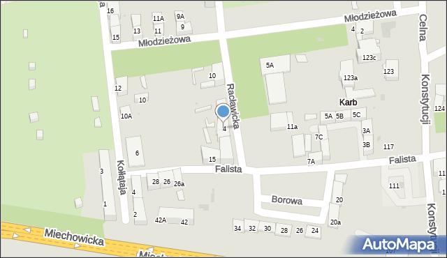 Bytom, Racławicka, 4, mapa Bytomia