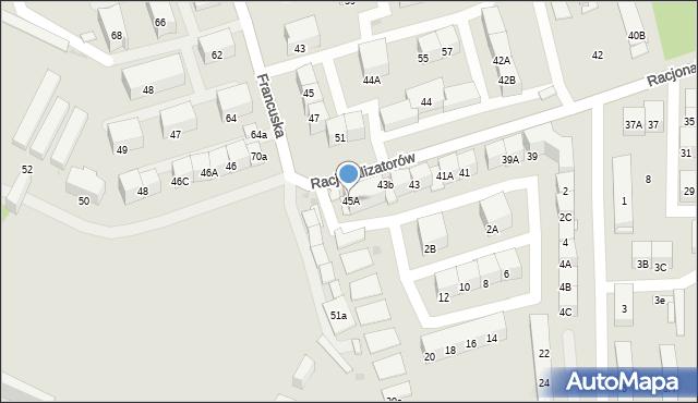 Bytom, Racjonalizatorów, 45A, mapa Bytomia