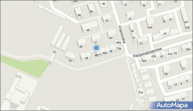 Bytom, Racjonalizatorów, 46C, mapa Bytomia