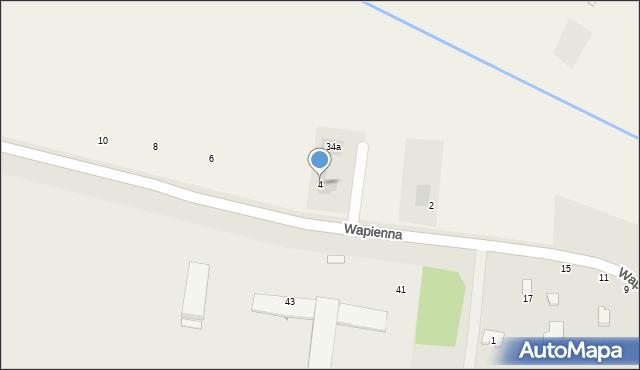 Cerekiew, Radomska, 4, mapa Cerekiew