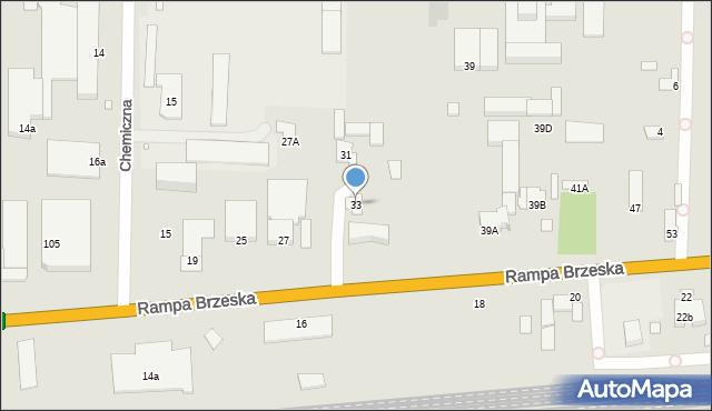 Chełm, Rampa Brzeska, 33, mapa Chełma