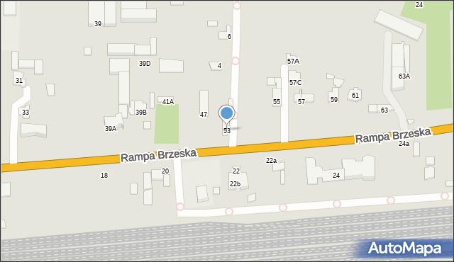 Chełm, Rampa Brzeska, 53, mapa Chełma