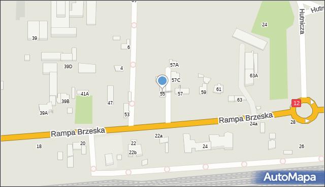 Chełm, Rampa Brzeska, 55, mapa Chełma