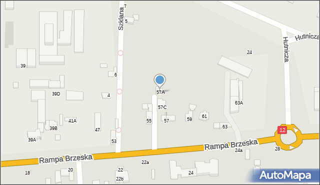 Chełm, Rampa Brzeska, 57A, mapa Chełma