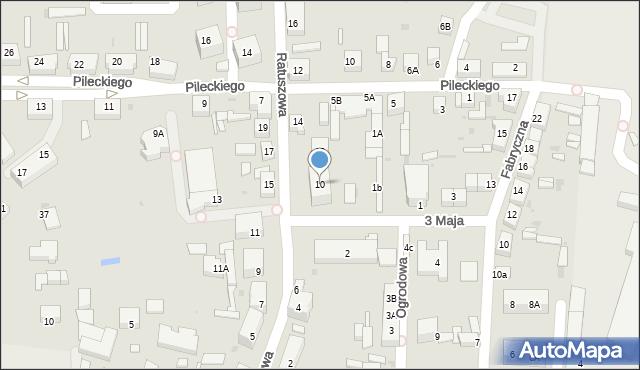 Chocianów, Ratuszowa, 10, mapa Chocianów