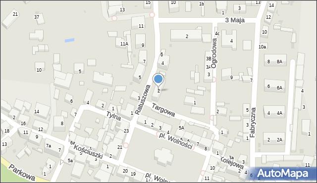 Chocianów, Ratuszowa, 2, mapa Chocianów