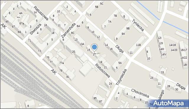 Chorzów, Ratuszowa, 17, mapa Chorzów