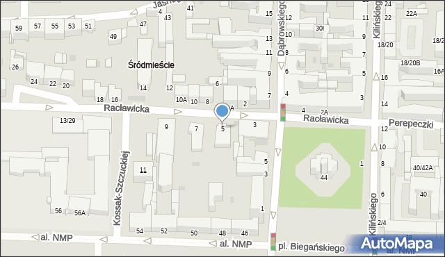 Częstochowa, Racławicka, 5, mapa Częstochowy