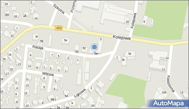 Grabów nad Prosną, Rataja, 5B, mapa Grabów nad Prosną