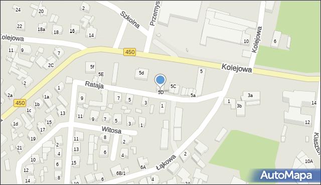 Grabów nad Prosną, Rataja, 5D, mapa Grabów nad Prosną