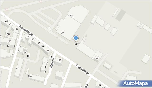 Grudziądz, Rapackiego, 21, mapa Grudziądza