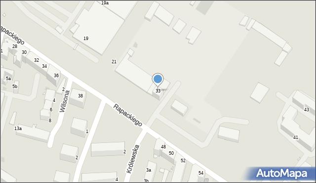 Grudziądz, Rapackiego, 33, mapa Grudziądza