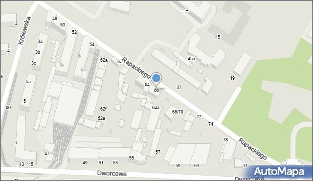 Grudziądz, Rapackiego, 66, mapa Grudziądza